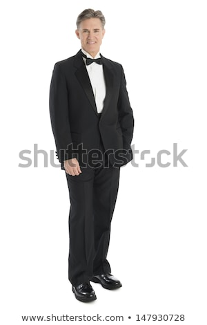 Glimlachend man smoking een hand zak Stockfoto © feedough