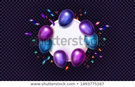 черная пятница продажи шаров фиолетовый бизнеса Сток-фото © articular