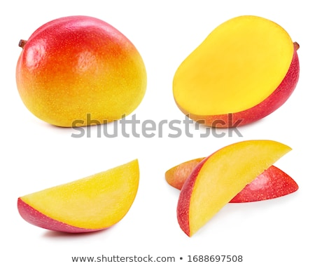 Mango slice cut to cubes Stock photo © kenishirotie