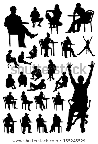 Business man sitting on chair reading Stock photo © IS2