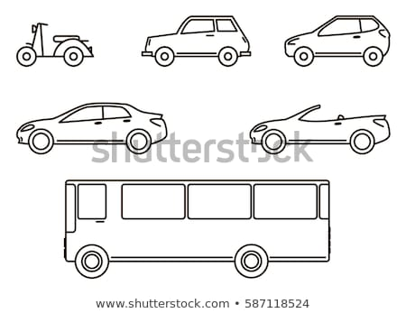 outline of car on the road Stock photo © ssuaphoto