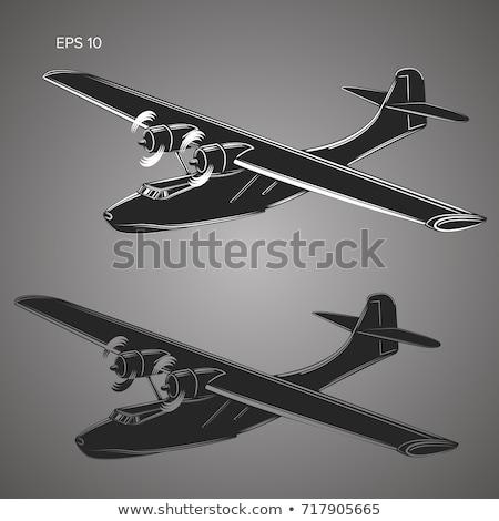 пропеллер · самолета · набор · изолированный · белый - Сток-фото © studioworkstock