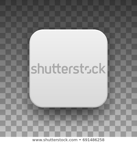 White Technology App Icon Blank Template vector illustration ...