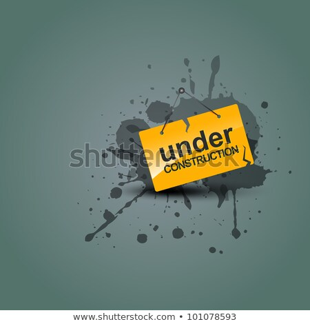 abstract artistic under construction icon Stock photo © pathakdesigner
