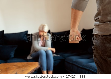 mulher · homem · lutar · estilo · retro - foto stock © studiostoks