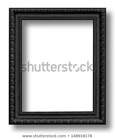 Vieux cadre photo noir isolé photographie Photo stock © adamr