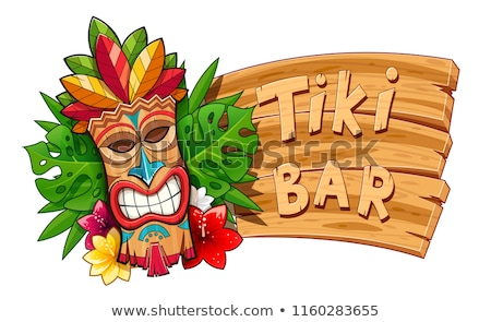 tiki traditional hawaiian tribal mask stock photo © loopall