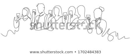 Línea transmisión dibujado a mano garabato icono Foto stock © RAStudio