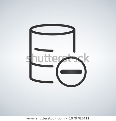 Linear Database, Server Isolated Flat Web Mobile Icon with minus or delete icon. Vector Illustration stock photo © kyryloff