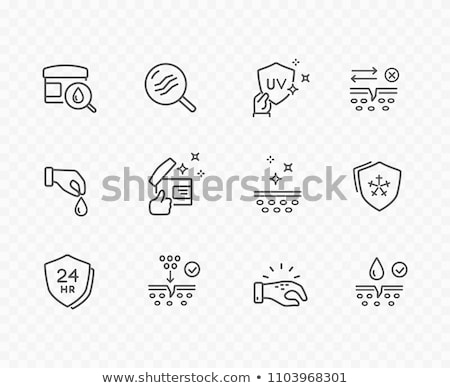 thin line design medical icons 3 stock photo © genestro