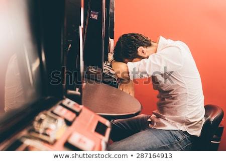男 衝動的な ギャンブル 問題 実例 ギャンブラー ストックフォト © lenm