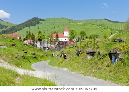 Eslováquia aldeia ao ar livre rural Foto stock © phbcz