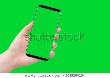 Background with hand, holding modern key stock photo © Dinga