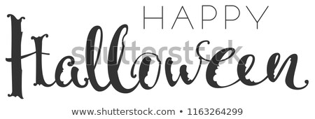Happy halloween handwriting ornate text greeting card Stock photo © orensila