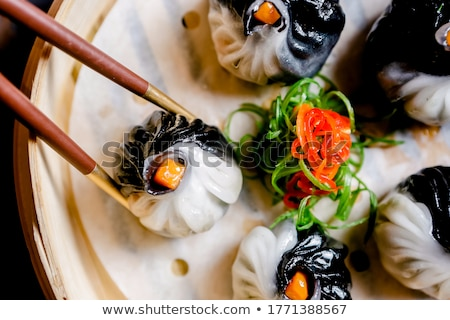 Black and White Dimsum Stock photo © lenm