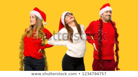 Santa Claus Costume girl_sickness Stock photo © toyotoyo
