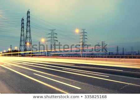 Dağ elektrik yaz manzara akım hat Stok fotoğraf © wildman