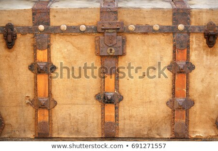 old damaged wooden chest Stock photo © taviphoto