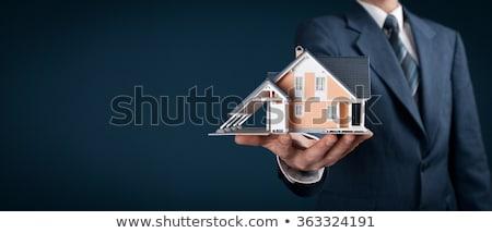 agent · immobilier · travaux · homme · jardin · travail · immobilier - photo stock © chocolatebrandy