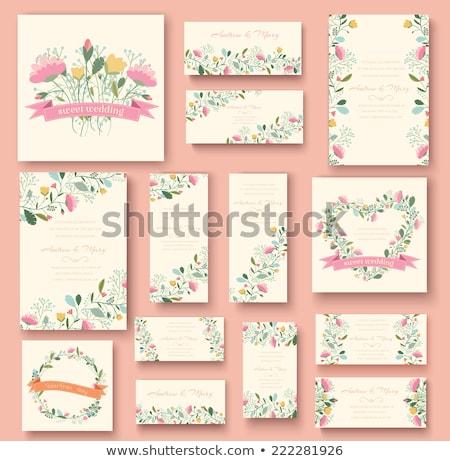 Convite flor decoração rosa natureza Foto stock © makyzz