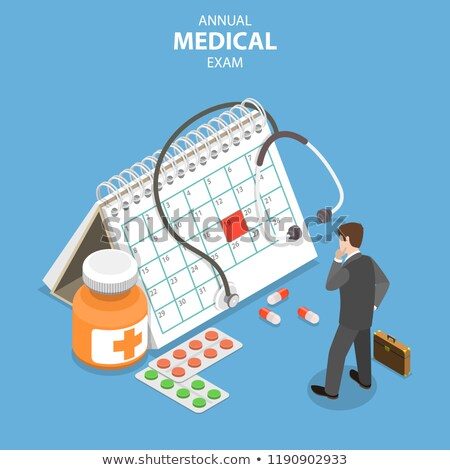 Annual medical exam of isometric flat vector concept. Stock photo © TarikVision