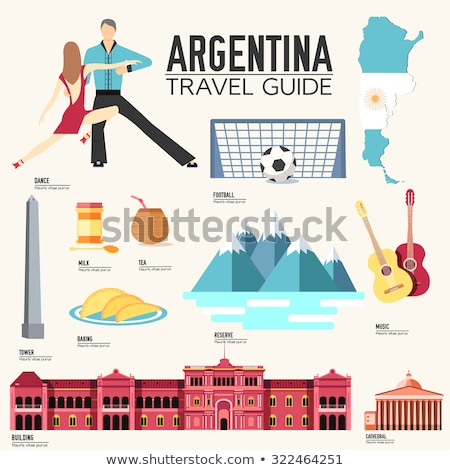 Country Argentina travel vacation guide of goods, places and features. Set of architecture, fashion, Stock photo © Linetale