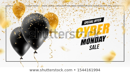 Cyber Monday Sale Banner Ad Vector Template Design stock photo © SaqibStudio