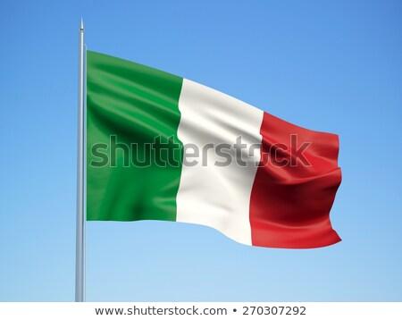 итальянский символ флаг небе продовольствие вино Сток-фото © doomko