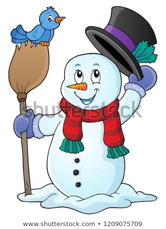 Winter snowman subject image 1 Stock photo © clairev