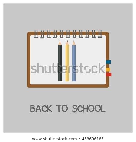 Volver a la escuela diseno grafito lápiz tipografía Foto stock © articular
