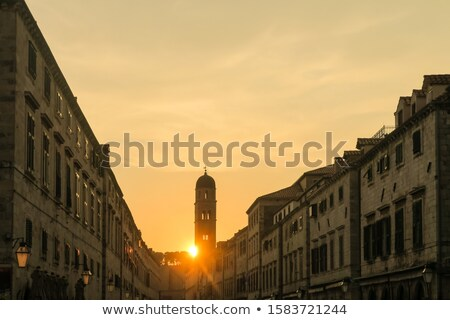 Stradun view from Ploce gate in Dubrovnik Stock photo © xbrchx