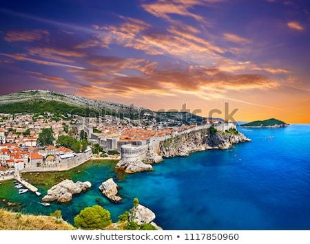 Dubrovnik histórico cidade porto turista Foto stock © xbrchx
