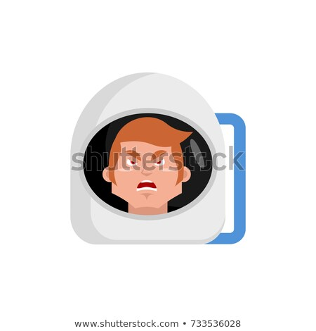 Cartoon Angry Spaceman Man Stock photo © cthoman