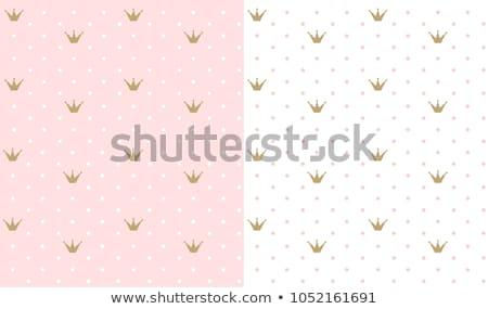Kicsi aranyos rózsaszín végtelenített vektor minta Stock fotó © yopixart