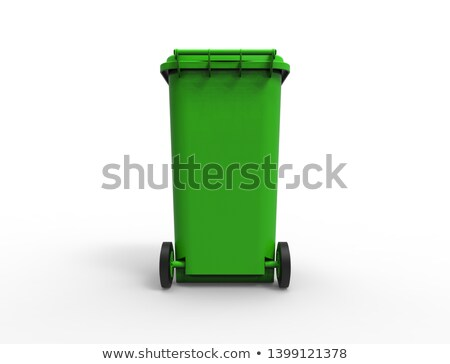 Blue plastic recycle bin closed 3D Stock photo © djmilic