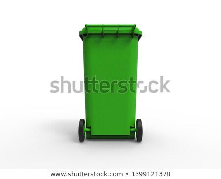 Blue plastic recycle bin closed 3D Stock photo © djmilic