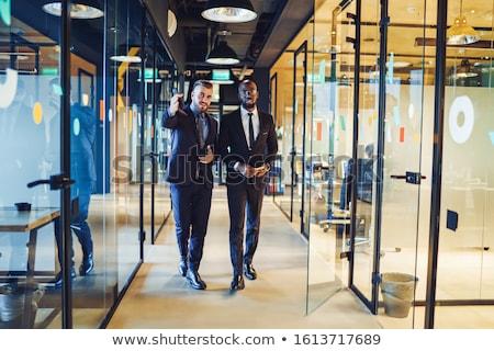 Business partner ufficio business donna uomo felice Foto d'archivio © Minervastock