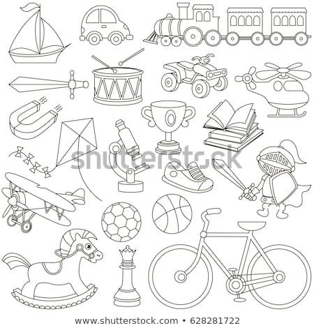 Livro para colorir jogo crianças adultos cérebro Foto stock © Olena
