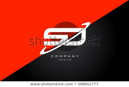 ロゴ 手紙 赤 黒 アイコン シンボル ストックフォト © blaskorizov