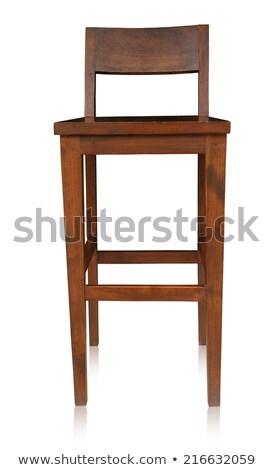 High chair made of wood Stock photo © colematt