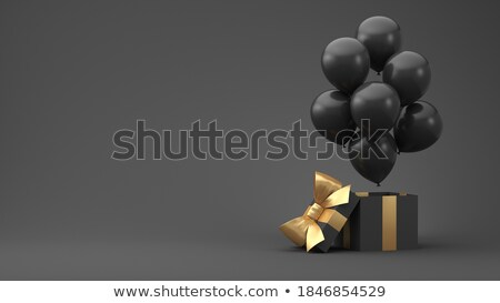 Black friday presentes caixas presentes balão cesta Foto stock © robuart