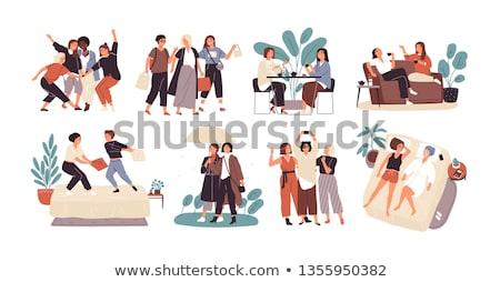 uśmiechnięty · dar · odizolowany · biały · tekstury · streszczenie - zdjęcia stock © robuart