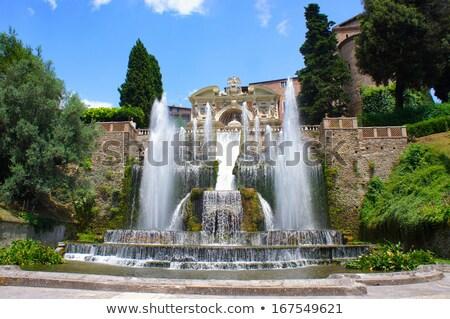 Fuente órgano Villa Italia vista edificio Foto stock © boggy