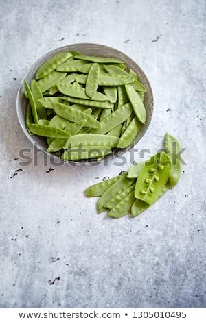 Vers groene erwten witte keramische kom Stockfoto © dash