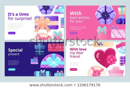 forme · de · coeur · texte · boîte · cadre · saint · valentin · papier - photo stock © robuart