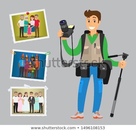 cameraman take orders on weddings birthdays stock photo © robuart