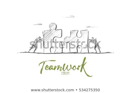 Partnership Jigsaw Puzzle Business Concept Stock photo © ivelin