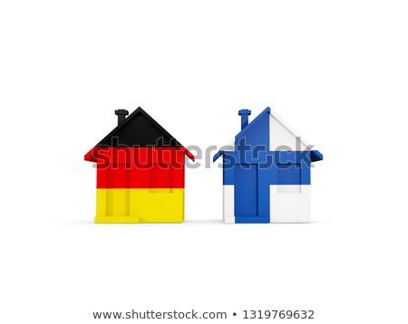 два домах флагами Германия Финляндия изолированный Сток-фото © MikhailMishchenko