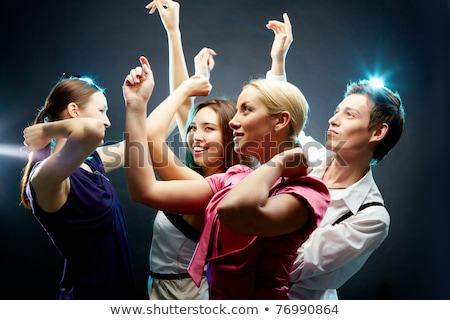 dancing people at party isolated dancers clubber stock photo © robuart