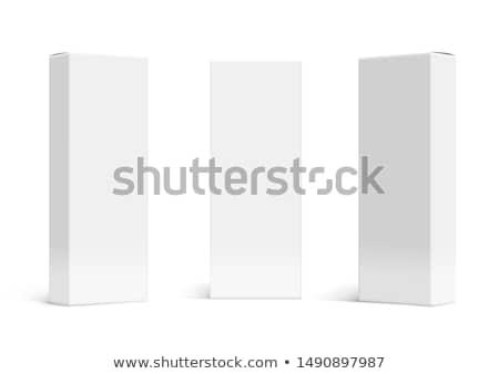 Wektora ikona pola pakiety szablony papieru Zdjęcia stock © robuart